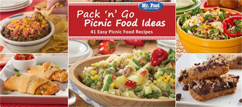 plan the perfect picnic free picnic ecookbook mr food