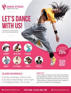 dance studio flyer by elite designer graphicriver