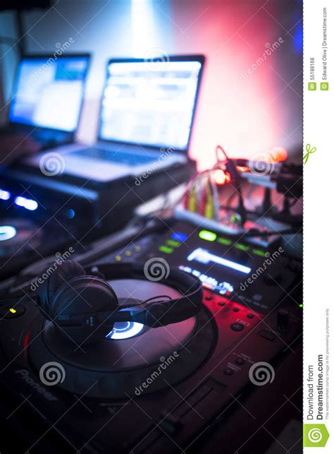 ibiza house music dj console mixing desk ibiza house music party nightclub stock photo image 55188168