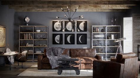restoration hardware living room  behance