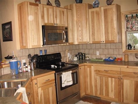 kitchens with hickory cabinets franker enterprises inc natural hickory kitchen