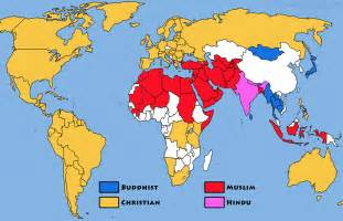 Religion Map Of The World by Pics Photos Religions Of The World