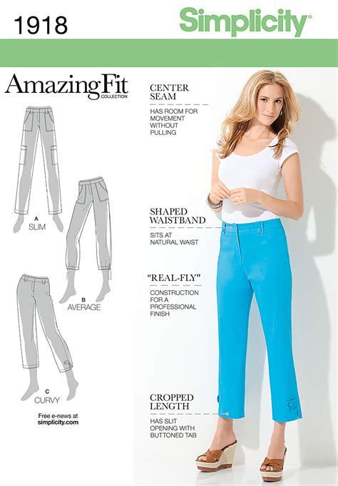 pattern review simplicity amazing fit simplicity 1918 misses miss petite amazing fit pants
