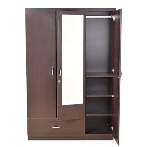 cupboard designs in india buy utsav three door wardrobe with mirror wenge in india ho340fu83giqindfur www