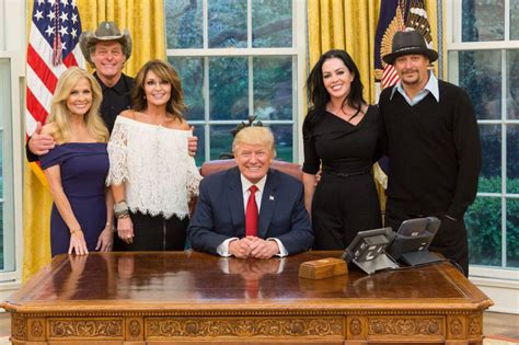 kid rock oval office caption this photo kid rock sarah palin and the nuge