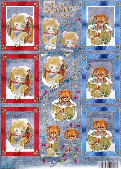 die cut decoupage sheets cats dogs die cut 3d decoupage sheet from dufex