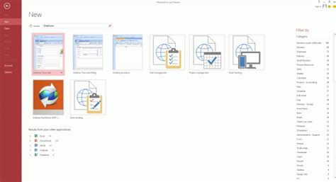 First Look At Access 2013 Microsoft Access Templates 2013