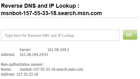 Dns Forward And Lookup How To Verify Bingbot Webmaster Tools