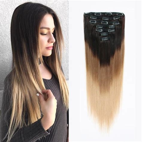 fine black brutish in shelby that does weave and brades clip in hair extension brown to blonde t 2 6 18