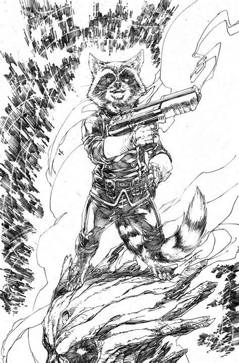 Rocket Raccoon 02 rocket raccoon sketch by brett booth 02 22 2014 anime