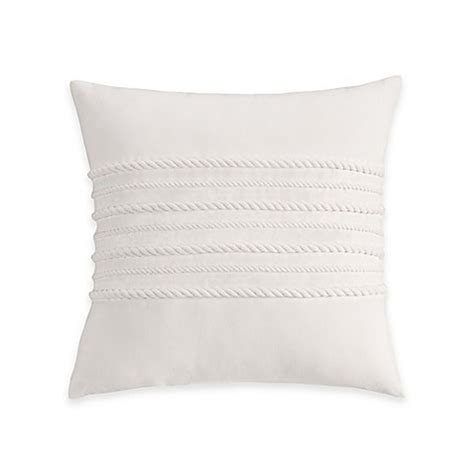white throw pillows for bed coastal life luxe sanibel corded decorative throw pillow