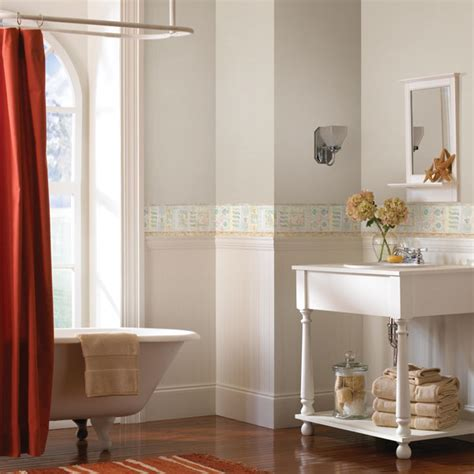 Wallpaper Borders Bathroom Ideas Bathroom Wallpaper Border My