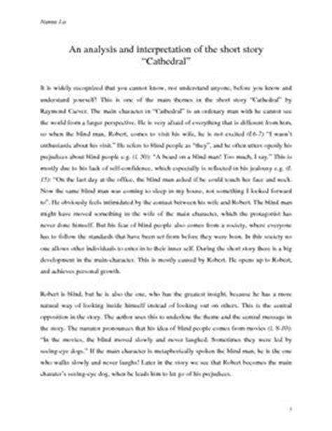 themes of the story cathedral an analysis and interpretation of the short story
