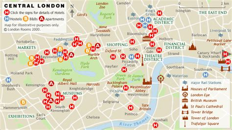 London Rooms - London Hotels, Bed and Breakfasts ...
