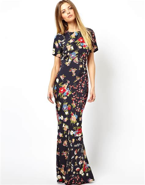 90s Floral by Asos Maxi Dress In 90s Grunge Floral Print