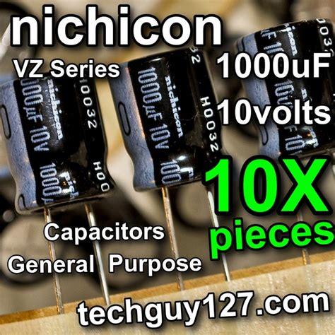 nichicon vz capacitors 10 pcs nichicon vz 1000uf 10v radial electrolytic capacitors