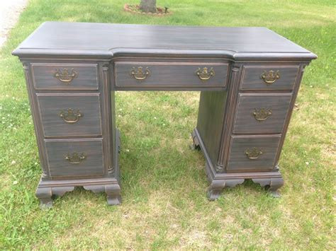 chic and shabby aged black desk haute juice