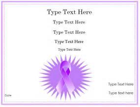 Purple Certificate Template by Blank Certificates Purple Ribbon Certificate