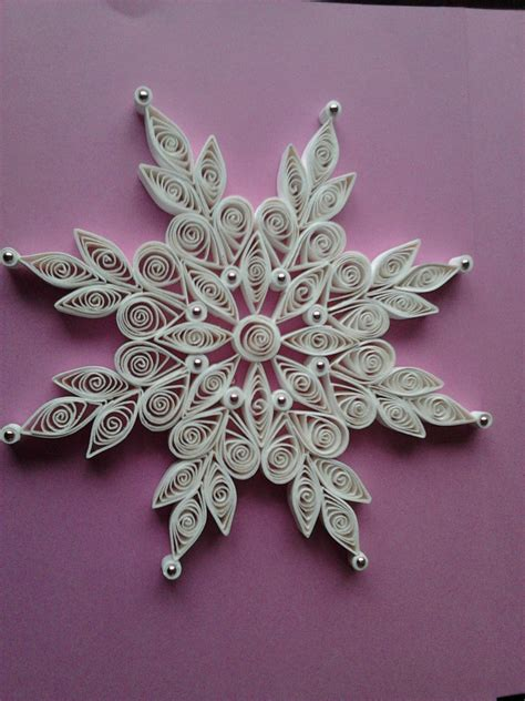 snowflake patterns quilling christmas lace quilled snowflake ornaments quilling