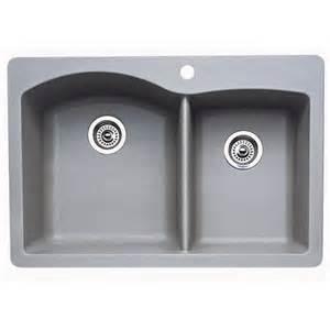 blanco 440214 metallic gray 1 and 3 4 bowl