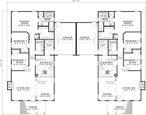 dual family house plans fordyce crest multi family home plan 055d 0369 house