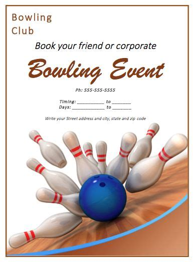56 Best Free Flyer Designs Images On Pinterest Free Flyer Design Free Flyer Templates And Bowling Event Flyer Template