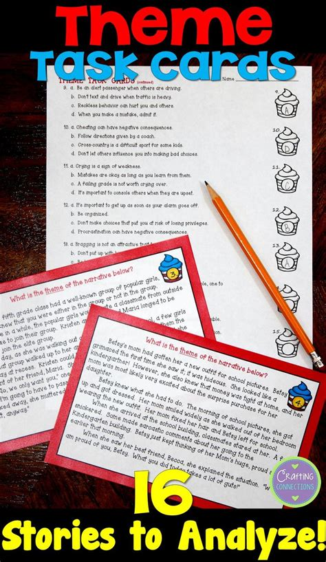 themes in literature abeka answers 76 best task cards images on pinterest