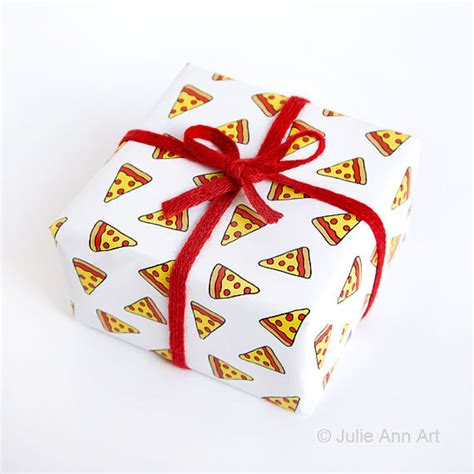 39 gift ideas for the aspiring pizza artist in your life funny wrapping paper geek gift wrap pizza
