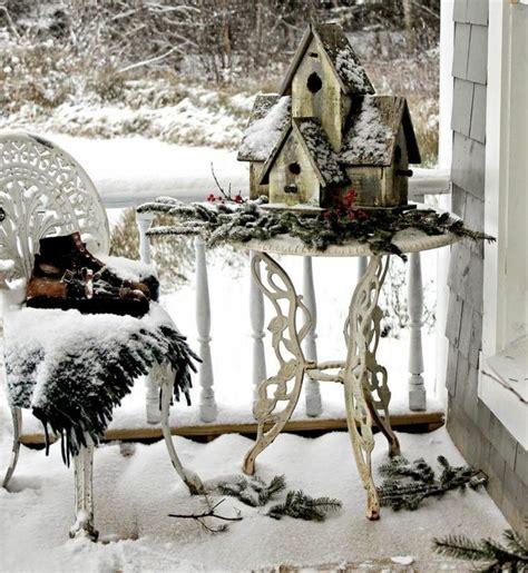 weihnachtsdeko shabby look weihnachtsdeko auf dem balkon im winter gestalten 16