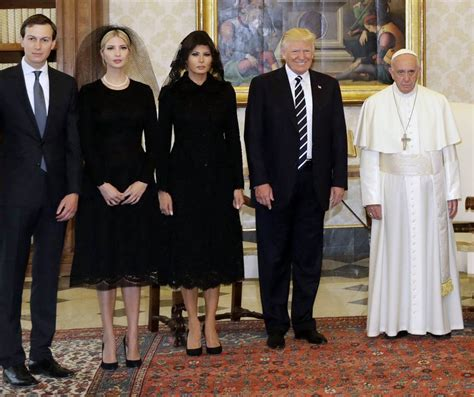 the trump family the looks of the family trump to pope francis consulente