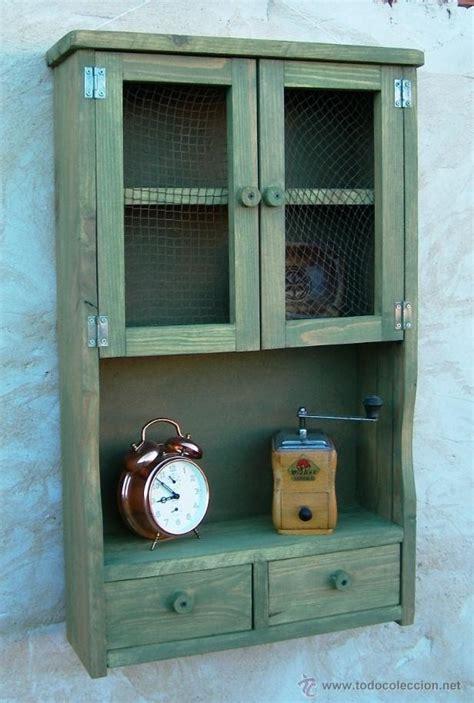 comprar alacena mueble alacena de madera verde vintage mue36 comprar