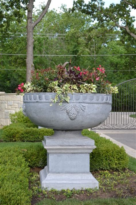 outdoor planters and urns solid planters and urns garden statues and yard other metro by solutions