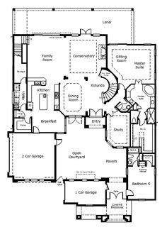 Two Story Courtyard House Plan 6382hd Architectural Plan 6382hd Two Story Courtyard House Plan Florida