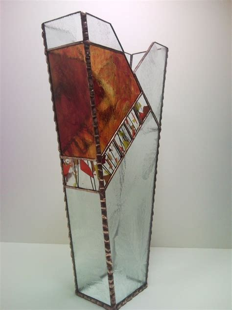 Stained Glass Vases Stained Glass Autumn Vase By Unikke Glas Stained Glass