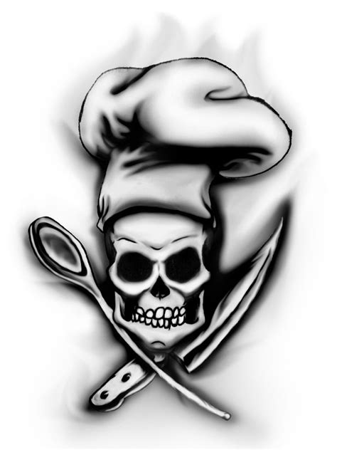 chef hat tattoo designs chef skull by megamike75 s