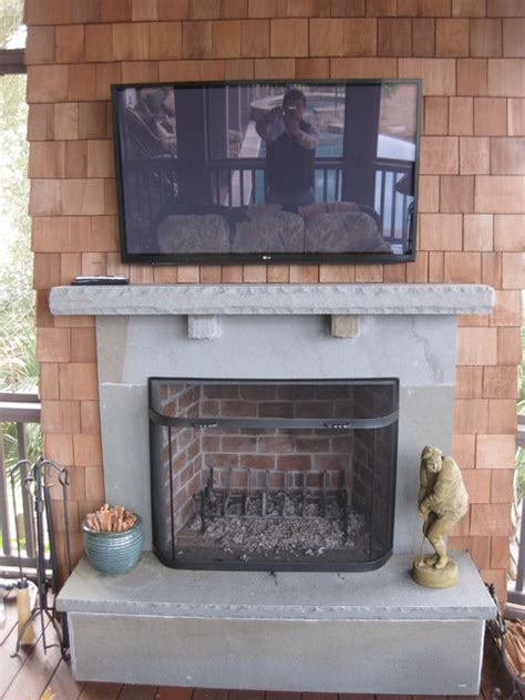 bluestone fireplace outdoor porch fireplace bluestone traditional porch