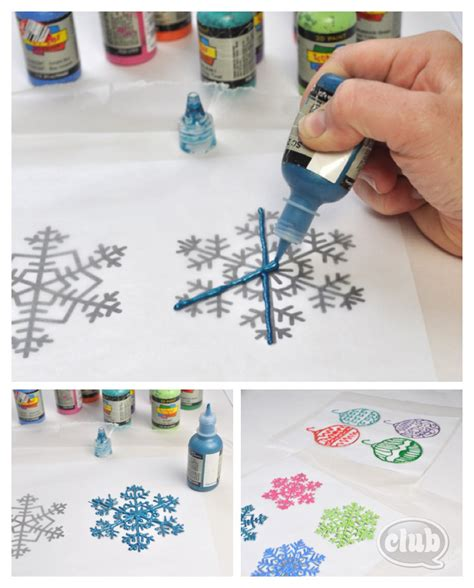 Make Your Own Watercolor Paper - paint ornament steps clubchicacircle