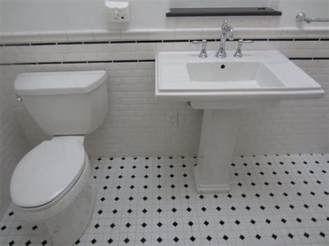 white bathroom floor tile ideas black and white subway tile bathroom design ideas