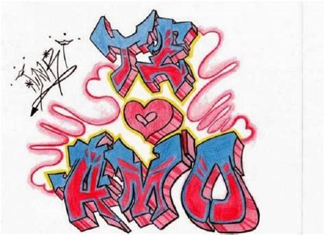 imagenes k digan te amo lesly graffitis de te amo arte con graffiti