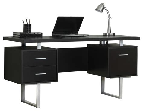 Metal Computer Desk With Hutch Monarch Specialties Computer Desk 60 Quot Cappuccino Silver Metal I7080 Contemporary Desks