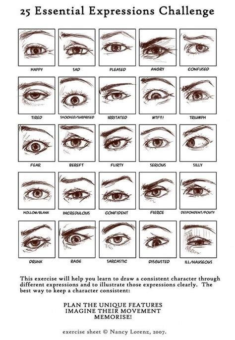Drawing Expressions by Drawing Eye Challenge How To Draw