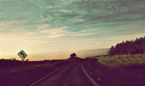 classic road wallpaper road sunshine vintage sky tree