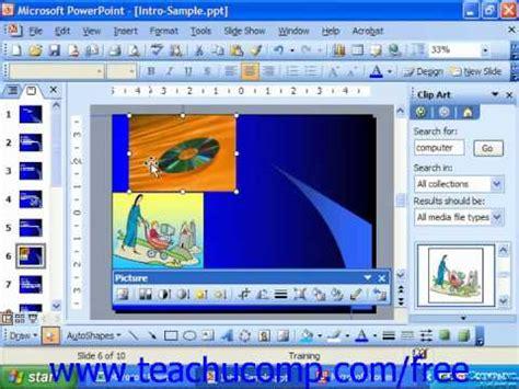 2003 powerpoint tutorial videos powerpoint 2003 tutorial moving clip art microsoft
