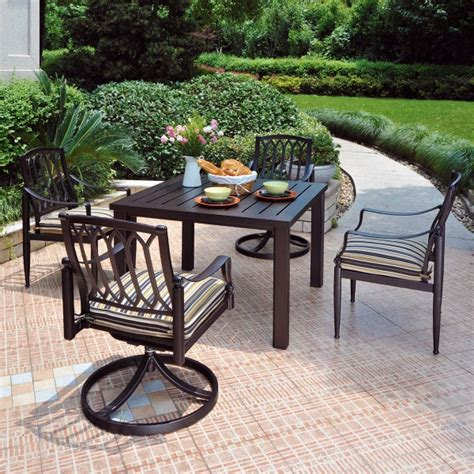 hanamint lancaster outdoor patio furniture dining set