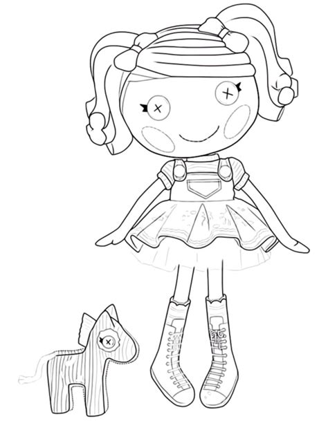 lalaloopsy mermaid page coloring pages
