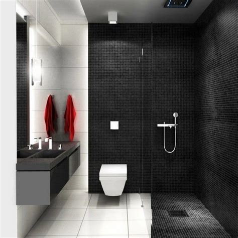 Black Bathrooms Ideas by 20 Modern Bathrooms With Black Shower Tile