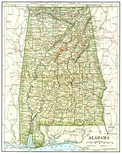 us map alabama state alabama maps alabama digital map library table of