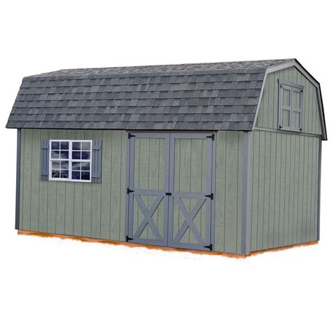 Home Depot Wooden Sheds by Best Barns Meadowbrook 10 Ft X 16 Ft Wood Storage Shed