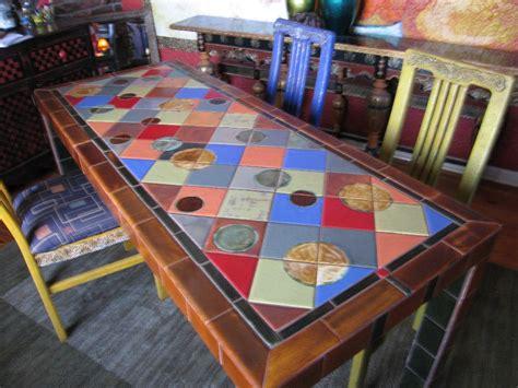Painted Dining Room Sets Tile Dining Table By Elljaye On Deviantart