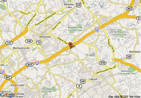 map of norcross map of suiteone of gwinnett norcross